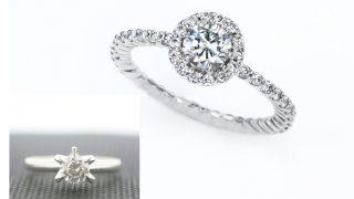 婚約指輪リフォームビフォアとアフター