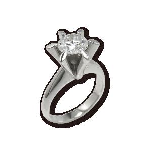 ジュエリーリフォームしたい爪の大きな高さのあるダイヤモンドリング