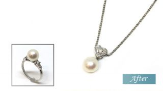 リフォーム真珠プチネックレス
