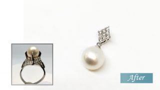 リフォーム後 品の良い真珠のペンダント