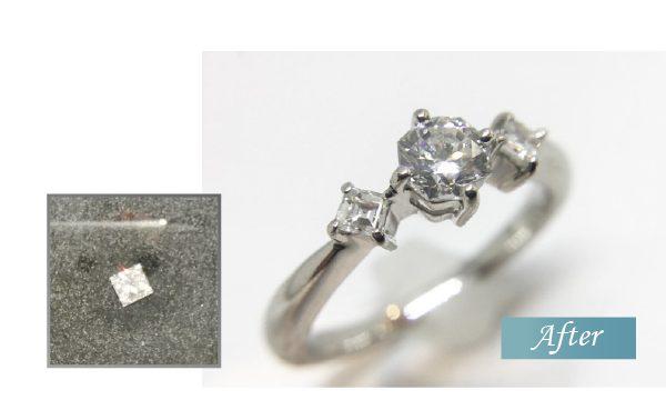 希少ダイヤモンド 八角形 インターナリーフローレス