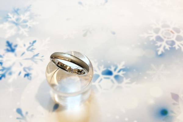 新仕上げを行った結婚指輪