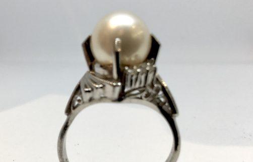 リフォーム前 高さの高いの真珠の指輪