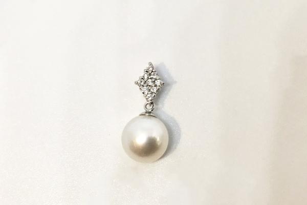 リフォーム後 普段使いもできる真珠のペンダント