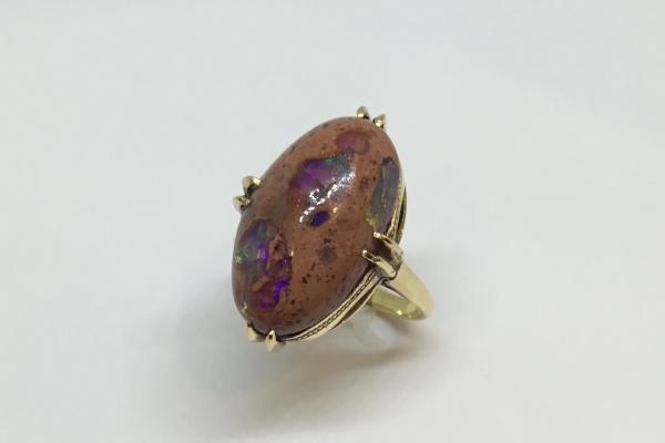ジュエリーリフォーム前 オパールの指輪