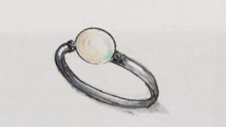 真珠リングリフォームデザイン