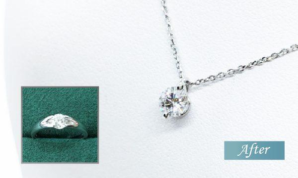 リフォーム後のダイヤモンドプチネックレス