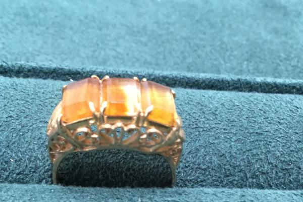 リフォーム前シトリンの指環