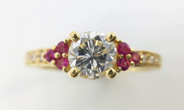 リフォーム後のダイヤとルビーの指輪
