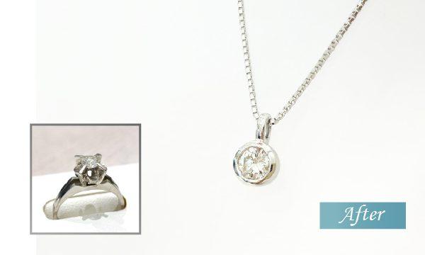 リフォーム ダイヤモンドプチネックレス