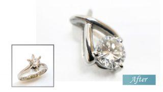 婚約指輪のダイヤをペンダントにリフォーム