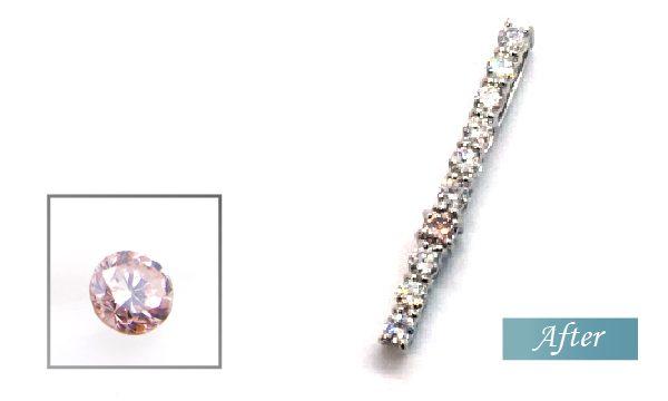ピンクダイヤを使ったペンダント