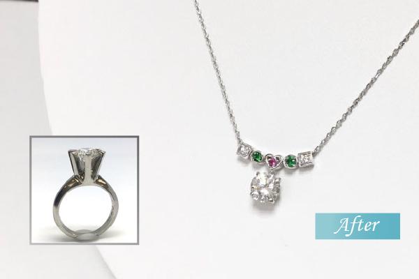 立爪リフォーム ダイヤモンドネックレス