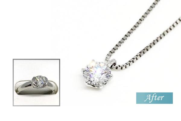 ダイヤモンドプチネックレス リフォーム
