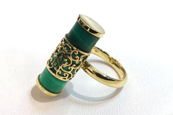 孔雀石指輪