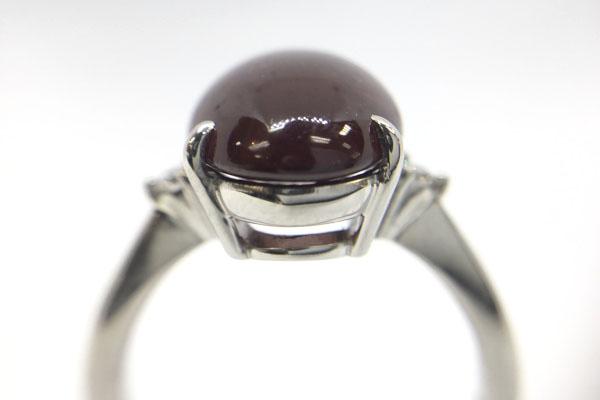 リフォームしたガーネット指輪