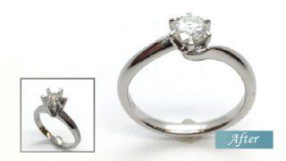 母からのダイヤモンドリングをリフォーム