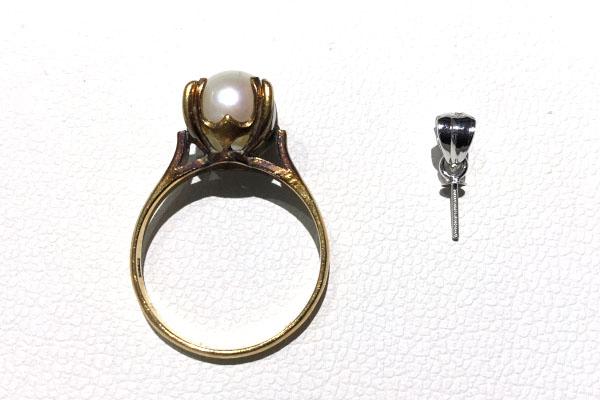 真珠ペンダントのためのパーツ