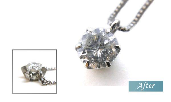 ダイヤモンドネックレスリフォームビフォアフター