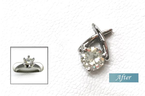 婚約指輪をペンダントにリフォーム