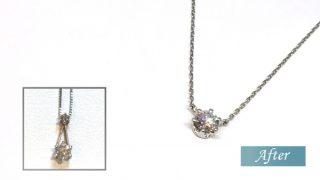 ダイヤモンドネックレスダイヤモンドのデザインを変える