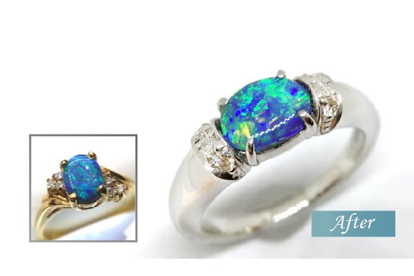 オパールの指環をリフォーム