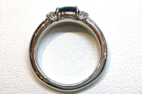 リフォーム後 オパール指輪