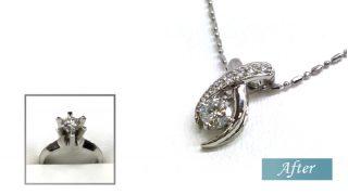婚約指輪のダイヤリングをペンダントにリフォーム