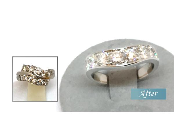 ダイヤモンドの指輪をリフォーム