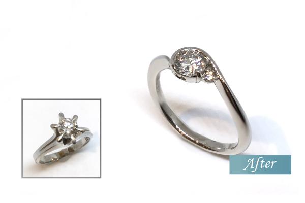 ダイヤモンド婚約指輪をリメイク