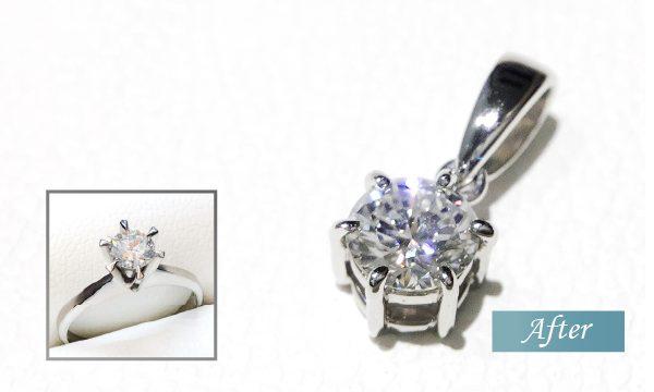 婚約指輪のダイヤのリフォーム