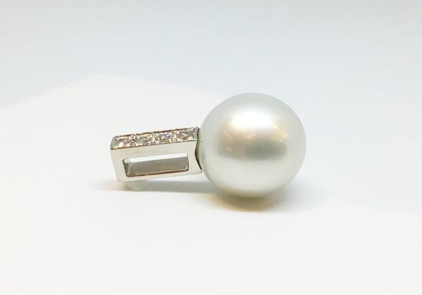 真珠の指環をペンダントにリフォーム