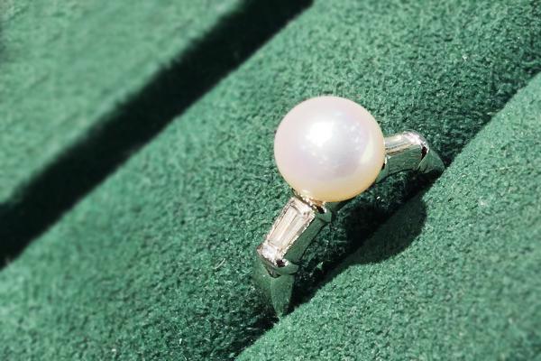 真珠の指輪 サイズ直し サイズアップ
