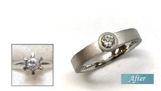 母からのダイヤの指輪をリフォーム
