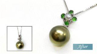 黒真珠ネックレスリフォーム
