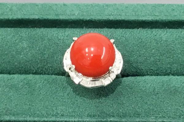 血赤サンゴの指環