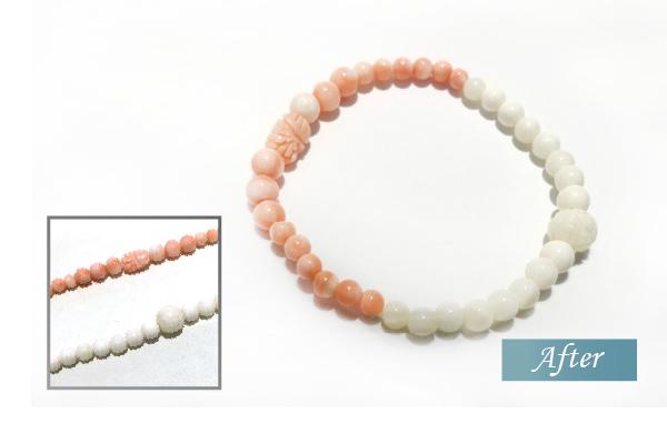 白サンゴとピンク珊瑚のリフォーム